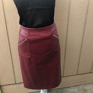 ❤️Catherine Malandrino Faux Leather Mid skirt
